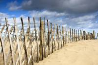Dark Skies Over Beach With Fence, South Shields, T