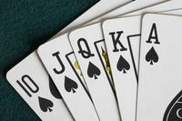 Close-Up Of Blackjack Playing Cards Showing Spades