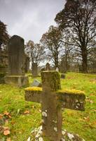 Moss-Covered Gravestones, Argyl And Bute, Scotland