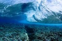 Micronesia, Yap, Underwater View Of Wave