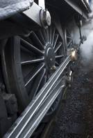 Close-Up Of Steam Engine Train Wheel