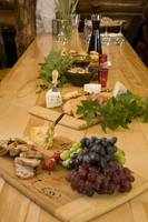 Cheese, Bread and Fruit hors doervres prepared for