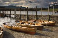 Four Rowboats On Shore, Lake District, Cumbria, En