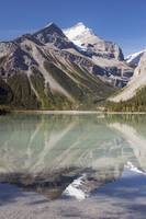Reflection Of Mount Robson In A Lake, Canadian Roc