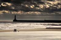 Sandy Beach With Lighthouse And Groyne, Sunderland