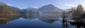 Panoramic View Of Mendenhall Lake, Tongass Nationa