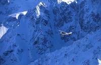 Small Plane Flying Above Chugach Mountains, Southc