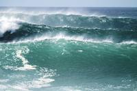 Hawaii, Oahu, Beautiful Set Of Waves