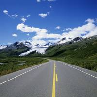 Alaska, Richardson Highway Leading To Worthington
