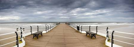Dock With Benches, Saltburn, England