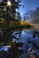 Autumn Afternoon On Cavell Lake Below Mount Edith