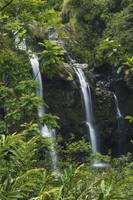 Hawaii, Maui, Hana Coast, Waterfalls Along The Han