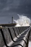 Waves Crushing Against Barrier, Sunderland, Tyne A