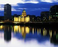 Customs House And Liberty Hall, River Liffey, Dubl