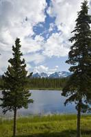 Scenic view of a lake in Denali National Park with