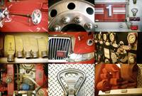 Collage Of A Red Firetruck And All Its Components