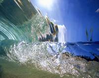 Hawaii, Oahu, North Shore, Underwater wave