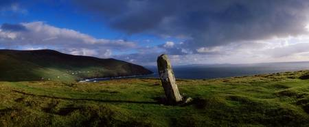 Ogham Stone At Dunmore Head, Dingle Bay, County Ke