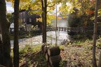 View Of Ulverton Wool Mill, Eastern Townships, Que