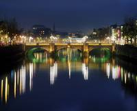 River Liffey At Night, O'Connell Street Bridge, D