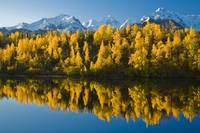 Scenic view of Chugach Mountains Matanuska Valley