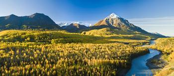 Scenic view of King Mountain along the Matanuska R