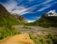 Scenic view of Eagle River in Chugach State Park,