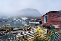 Petty Harbour In Fog, Newfoundland, Canada