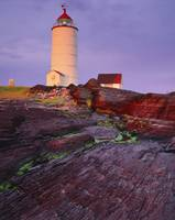 Lighthouse At Sunrise, Bas-Saint-Laurent, Quebec,