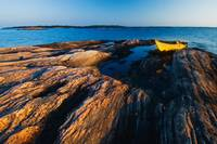Kayak On Shore, Georgian Bay Near Snug Harbour, Ca