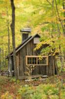 Sugar Cabin In Autumn, Kamouraska Village, Quebec,