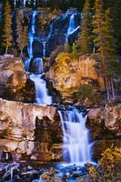 Tangle Falls At Dusk, Jasper National Park, Albert