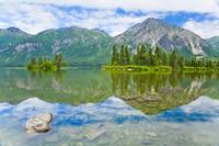 Scenic view of Kijik Lake in Lake Clark National P
