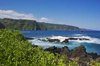 Hawaii, Maui, Keanae Peninsula, View Of Northern C