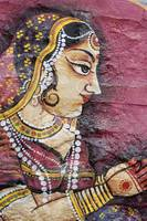 Traditional Painting On A Wall, Jodhpur, Rajasthan