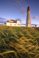 Lighthouse At Sunset, Bas-Saint-Laurent Region, Qu