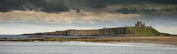 Dunstanburgh Castle Under Cloudy Sky Bamburgh, No