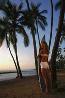 Hawaii, Oahu, North Shore, Full Length View Woman