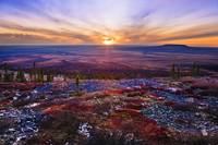 Fall Colours And Sunset Along Dempster Highway, Yu