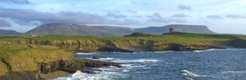 Rugged Coastline with Classiebawn Castle, Mullaghm