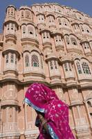 At Hawa Mahal City Palace Jaipur, Rajasthan State,