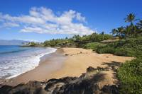 Hawaii, Maui, Makena, Chang's Beach, Blue Sky, Cl