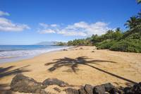 Hawaii, Maui, Makena, Chang's Beach, Shadow Of Pa