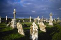 Graveyard, Clonmacnoise, County Offaly, Ireland