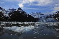 Scenic view of Surprise glacier in Prince William