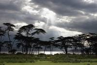 Sunlight Shining Through The Dark Clouds Kenya, A