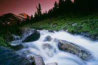 Small Stream, Skoki Valley, Banff National Park, A