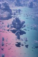 Special Effect Pink/Blue Sky, White Puffy Cumulus