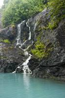 View of waterfalls in Passage Canal, Whittier, Sou