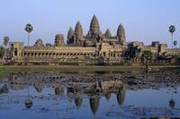 Towers Of Angkor Wat And Lake